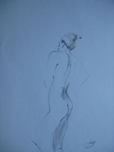 Standing, Small Nude